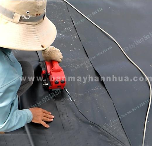 Máy hàn bạt nhựa, máy hàn màng nhựa JIT 800, rft 501