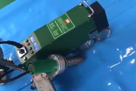 Máy hàn màng nhựa chống thấm LST WP1 hàn bạt phủ mui xe tải