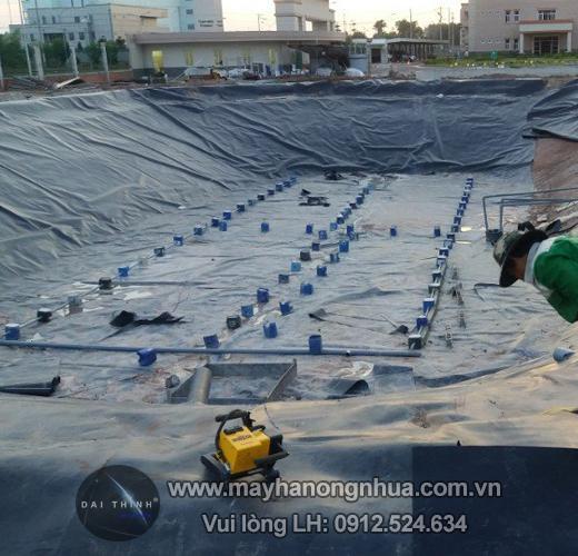Máy hàn màng nhựa chống thấm Demtech
