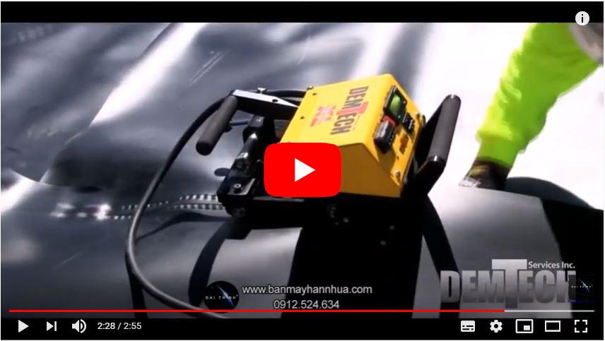 Máy hàn bạt nhựa Demtech Pro Wedge XL thi công hàn bạt HDPE